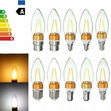 E27 E14 E12 B22 B15 2W Non-Dimmable Edison Filament Incandescent Candle Light Bu