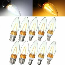 Non-Dimmable E27 E14 E12 B22 B15 2W Filament Incandescent Candle Light Bulb Lamp