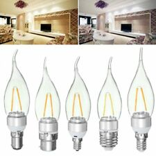Non-Dimmable E27 E14 E12 B22 B15 2W Sliver Pull Tail Incandescent Candle Light B