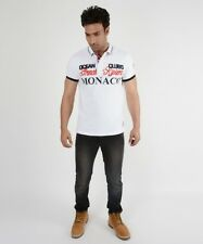 Brand Geo Norway White Regular Fit Polo Neck High Quality T-Shirt For Men & Boy