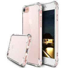 NEW For Apple iPhone 7/Plus Rubber Hybrid TPU Clear Case Bumper Shockproof Cover