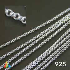 925 STERLING SILVER 1.35mm CONTINUOUS ROLO Belcher CHAIN For Jewellery Making