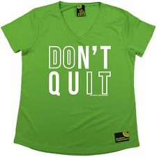 Women Sex Weights and Protein Shakes Dont Quit Dry Fit Sports V- NECK T-SHIRT