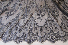 "59"" Chantilly Bridal Lace Fabric Eyelash Floral Veiling Lace Fabric 3m/piece"