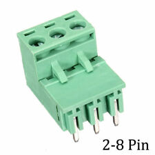 10pcs 2-8pins Curved 5.08mm Pluggable Terminal Blocks Connector