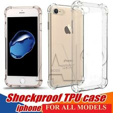 Shockproof for iPhone 5 6 7 Case Clear TPU Silicone Protective Bumper Back Cover