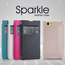 Nillkin Sparkle Leather Flip Stand Hard Back Case Cover - Sony Xperia Z1 Compact