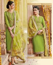 Shanaya Green Straight Silk Designer Kurti / Kurta with Dupatta