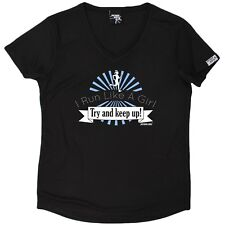 Personal Best - I Run Like A Girl - Dry Fit Breathable Sports V- NECK T-SHIRT