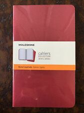 NEW MOLESKINE LARGE RULED NOTEBOOK CAHIERS 5x8.25