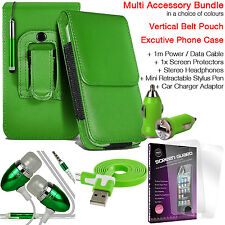 Quality Vertical Belt Clip Pouch Holster Flip Case Holder✔Accessory Pack✔Green