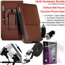 Quality Vertical Belt Pouch Phone Protection Case Cover✔Accessory Pack✔Brown