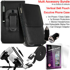 Quality Vertical Belt Pouch Phone Protection Case Cover✔Accessory Pack✔Black