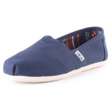 Toms Classic Mens Blue Canvas Casual Slip On Slip-on Genuine Shoes New Style