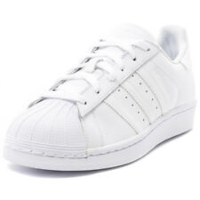 adidas Superstar Womens White Leather Casual Trainers Lace-up Genuine Shoes