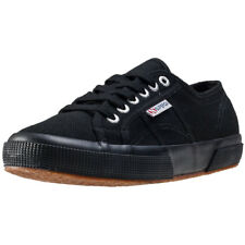 Superga 2750 Cotu Classic Womens Black Canvas Casual Trainers Lace-up New Style