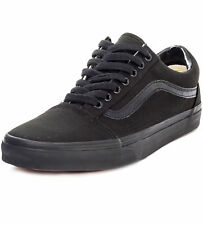 Vans Old Skool Mens Black Canvas Casual Trainers Lace-up Genuine Shoes