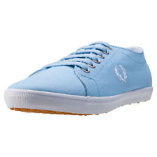 Fred Perry Kingston Twill Femmes Baskets Sky Blue Neuf Chaussure
