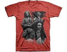 OFFICIAL LICENSED - BOB MARLEY - QUAD PHOTO T SHIRT - REGGAE LEGEND RASTA
