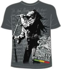 OFFICIAL LICENSED - BOB MARLEY - HIT ME JUMBO T SHIRT - REGGAE LEGEND RASTA