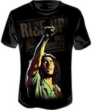 OFFICIAL LICENSED - BOB MARLEY - ARM UP T SHIRT - REGGAE LEGEND RASTA