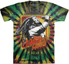 OFFICIAL LICENSED - BOB MARLEY - LIVE TIE DYE T SHIRT - REGGAE RASTA NATTY