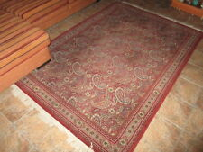 ALFOMBRA DE PURA LANA VIRGEN 100% EN BUEN ESTADO / PURPLE CARPET 100% WOOL