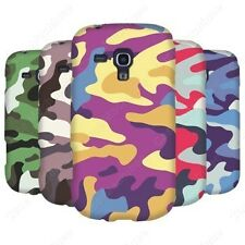 Heartly Army & Strip Retro Thin Hard Back Case Cover Samsung Galaxy S Duos S7562