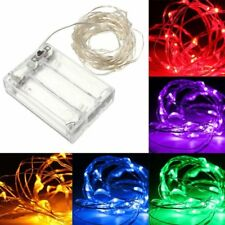 10M 100 LED Silver Wire Fairy String Light Battery Powered Waterproof Xmas Party