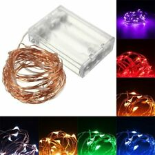 10M 100 LED Copper Wire Fairy String Light Battery Powered Waterproof Xmas Party