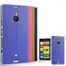 Heartly Premium PU Leather Flip Stand Hard Back Case Cover For Nokia Lumia 1520