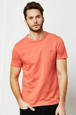 Threadbare Mens Basic Jersey T-shirt with Chest Pocket and Round Neck