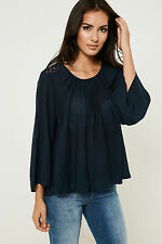 Vila Kansas Top with Loose Fitting and Three Quarter Length Sleeves