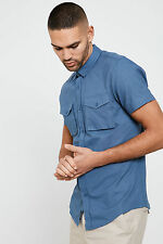 Threadbare Major Shirt Cotton with Twin Chest Pockets and Short Sleeve