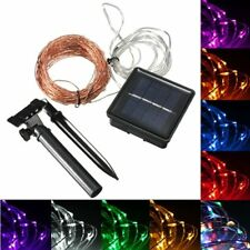 15M 150 LED Solar Powered Copper Wire String Fairy Light Xmas Party Decor