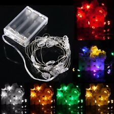 2M 20 LED Skull Style Battery Operated Xmas String Fairy Lights Party Wedding Ch