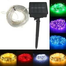 22M 150 LED Solar Powered Silver Wire String Fairy Light For Outdoor Holiday Dec