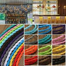 10m Vintage Colored DIY Twist Braided Fabric Flex Cable Wire Cord Electric Light