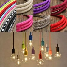 10M Vintage Colorful Twist Braided Fabric Cable Wire Electric Pendant Light Acce