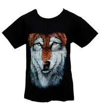 Niños Camiseta T-Shirt Lobo LOBO ANIMAL Kids