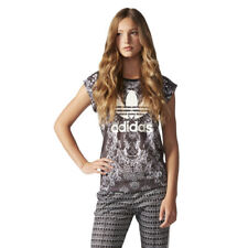 adidas Originals Pavao Womens T-shirt Tee Peacock Pattern Jersey Stylish Top