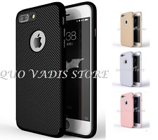 COVER CASE IN SILICONE/GOMMA FIBRA CARBONIO PER IPHONE 5/5s/SE/6/6s/7/X/plus