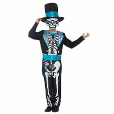 Kids Boys Day of the Dead Groom Suit Costume Sugar Skull Mexican Skeleton Coco