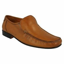 UOMO MARRONCINO mocassino in pelle SLIP ON CASUAL ELEGANTI formali SCARPE