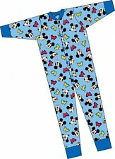 OFFICIAL DISNEY MICKEY MOUSE ALL IN ONE PYJAMAS - SLEEPSUIT - 100% COTTON