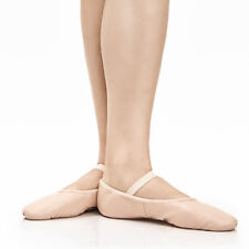 Girls Pink Leather Ballet Shoes UK SIZED Pre Sewn Elastics By Dancing Daisy