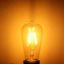 Dimmable Vintage Retro E27 ST58 4W LED COB Warm White  Filament Edison Bulb 110V