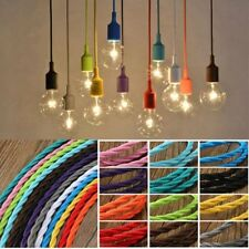 3m Vintage Colored DIY Twist Braided Fabric Flex Cable Wire Cord Electric Light