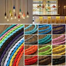 1m Vintage Colored DIY Twist Braided Fabric Flex Cable Wire Cord Electric Light