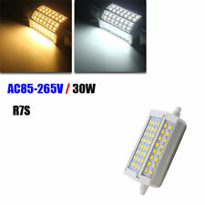 R7S Dimmable 30W 3000LM 118mm 64 SMD 5730 Warm White/White LED Light Bulb AC 85-